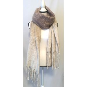 Mer-Sea one cream and light pink Polyester scarf